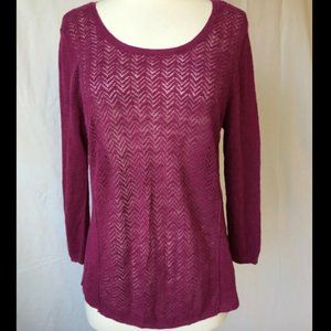 Women's Lucky Brand Button Back Sweater, Size XL!
